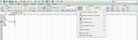 Formato condicional, Excel