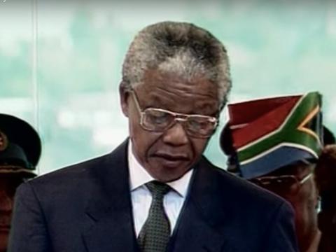 Mandela pasó más de cinco años en el cargo antes de dimitir en 1999.