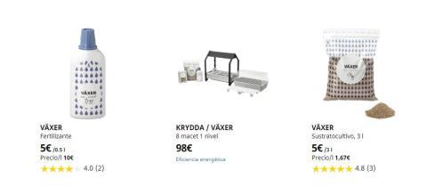 Ikea productos cultivo