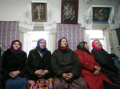 It's illegal to reside in the exclusion zone, but many older women chose to move back.