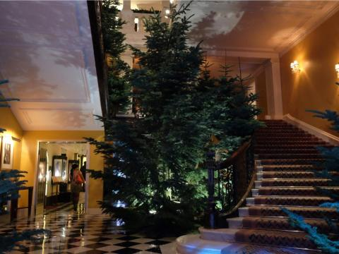 Ive designed a Christmas tree without any decorations for the Claridges hotel in London.