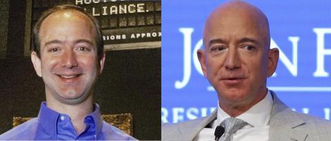 Jeff Bezos 25 años antes