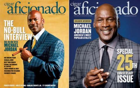 Jordan es conocido por su amor a los puros y ha explicado a la revista Cigar Aficionado que se fuma seis al día