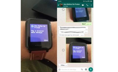 leer mensajes eliminados Amazfit Xiaomi