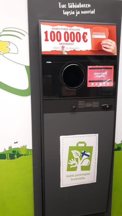 Máquina de vending para el reciclaje de envases