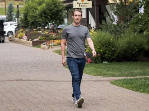 Mark Zuckerberg in tech CEO uniform.