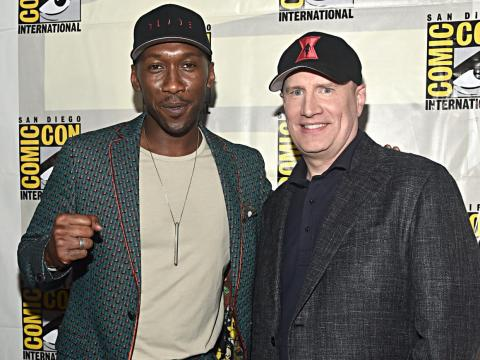 Mahershala Ali with Kevin Feige.