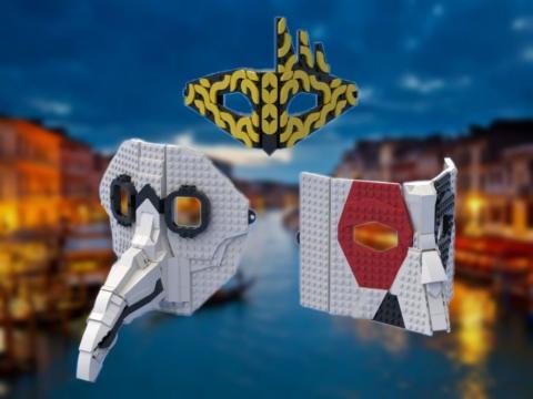 Máscaras venecianas estilo LEGO
