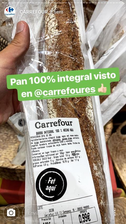 El pan recomendado por Carlos Ríos a través de una de sus stories.