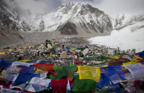 The Mount Everest base camp accumulated so much trash from tourists that it had to be closed.