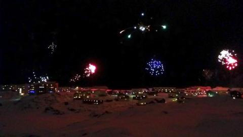 My journey began in Nuuk, the capital of Greenland and by far the largest city. I had never seen as many fireworks as I did on New Year's Eve there.