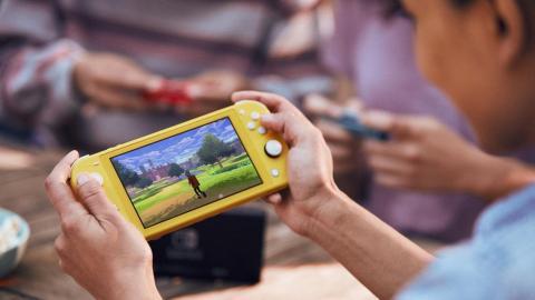 The new Nintendo Switch Lite.