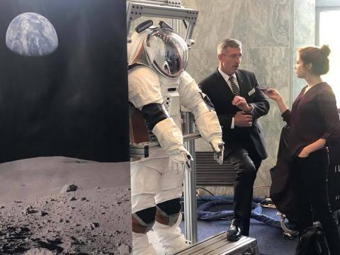 Nuevo traje espacial para astronautas