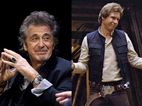 Al Pacino rechazó el papel de Han Solo en Star Wars.