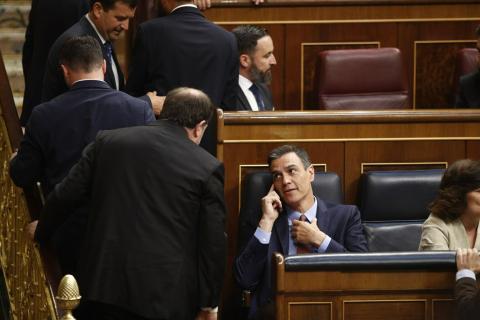 Pedro Sánchez y Oriol Junqueras
