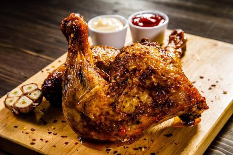 El pollo asado puede ser causa de enfermedades