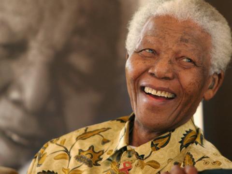 Nelson Mandela fue elegido presidente de Sudáfrica en mayo de 1994.