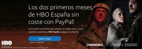 Página de PayPal para acceder al código promocional.