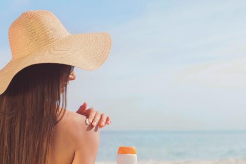 protección solar, playa, cremas