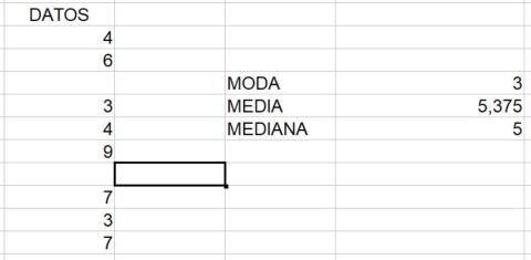 Cómo calcular la moda, media y mediana en Excel