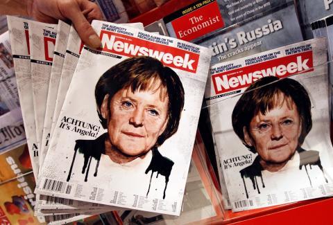 Un retrato de Angela Merkel en la portada de Newsweek