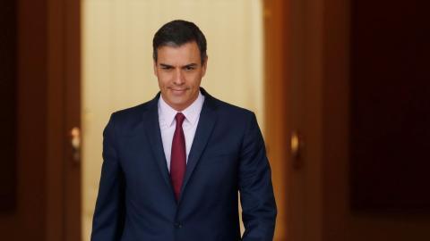 Sánchez en el Palacio de la Moncloa.