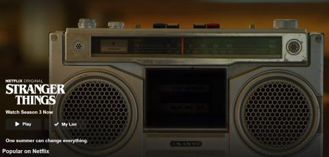 Sanyo una marca de radios aparece en Stranger Things
