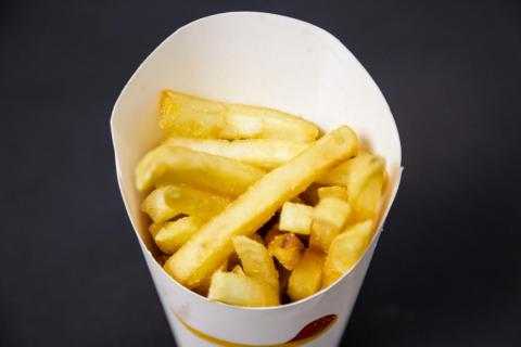 Savory, oily, and rich, BK's fries were the only contestant with zero metallic undertones. They're crispy on the outside and juicy on the inside, though their core is a little gritty and a tad bit too soft. These have just the