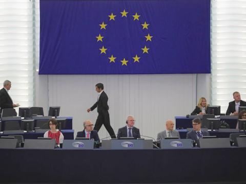 Una sesión de la Comisión Europea