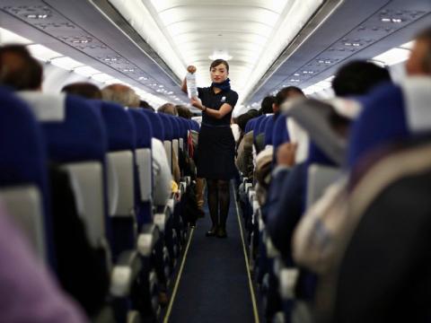 Subestimar el trabajo de un auxiliar de vuelo