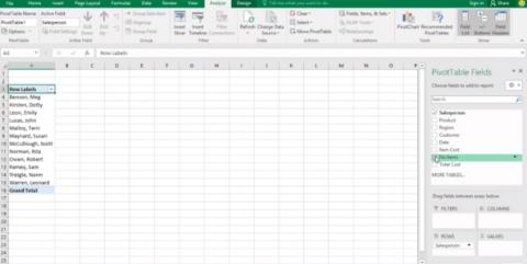 Tablas Pivote, Excel