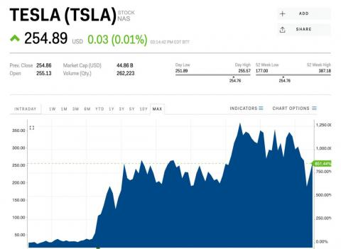 Tesla has been a great investment for early buyers of the stock.
