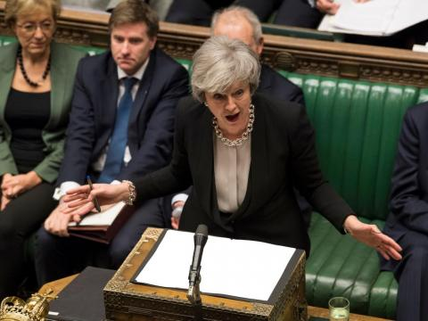 Theresa May takes her last Prime Minister's Questions