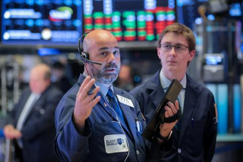 Traders en la bolsa de Nueva York