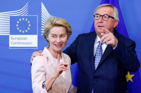 Ursula von der Leyen y Jean-Claude Juncker