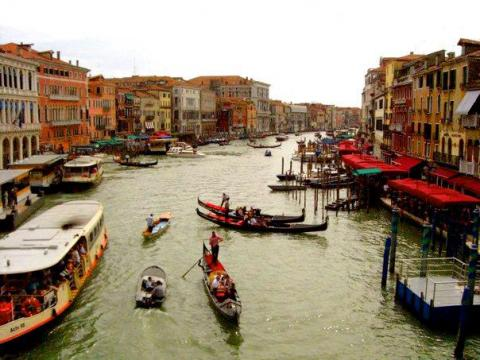 """Venice, Italy serves as the """"front line"""" of the battle against over-tourism, as the waterways have become more packed than ever before."""