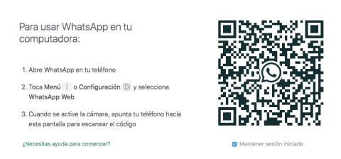 Código QR de la versión para ordenadores de WhatsApp o WhatsApp Web.