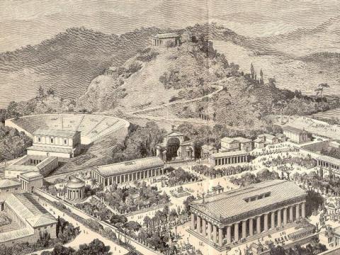 El Olimpo de la Antigua Grecia.