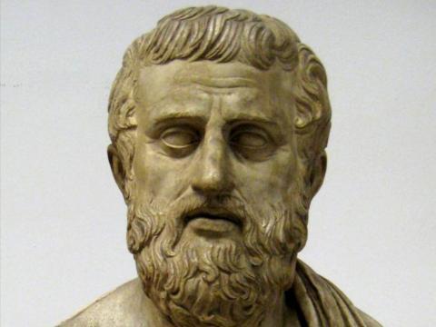 Un busto de Sófocles en el museo Pushkin.
