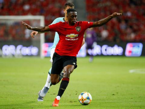 Aaron Wan-Bissaka, defensa del Manchester United