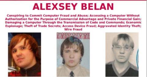 Alexsey Belan, un hacker persegido. La recompensa que se ofrece por Belan es de 100.000 dólares.