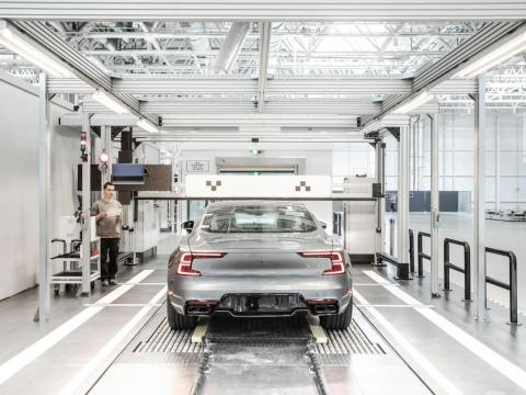 Around 500 Polestar 1 cars will be built per year in the facility. The car has a three-year production cycle.