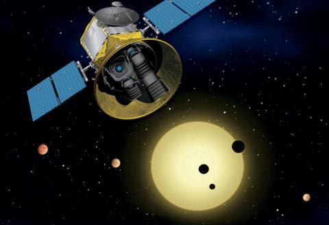 Representación artística de la misión TESS de la NASA.