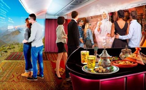 Aviones crucero usarán la realidad virtual para viajes turísticos.