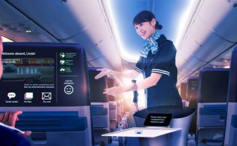¿Las azafatas serán hologramas en el futuro?