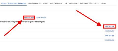 bloquear direcciones de correo electrónico en Gmail
