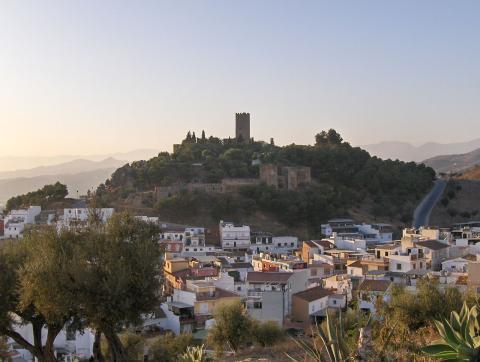 El castillo de Vélez-Málaga, en Andalucía