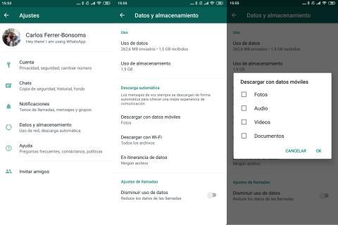 Cómo ahorrar espacio de WhatsApp en Android desactivando la descarga automática