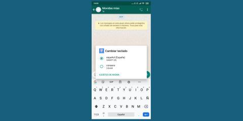 Cómo cambiar de idioma en un teclado Android