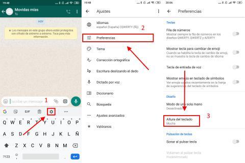 Cómo cambiar el tamaño del teclado de Android